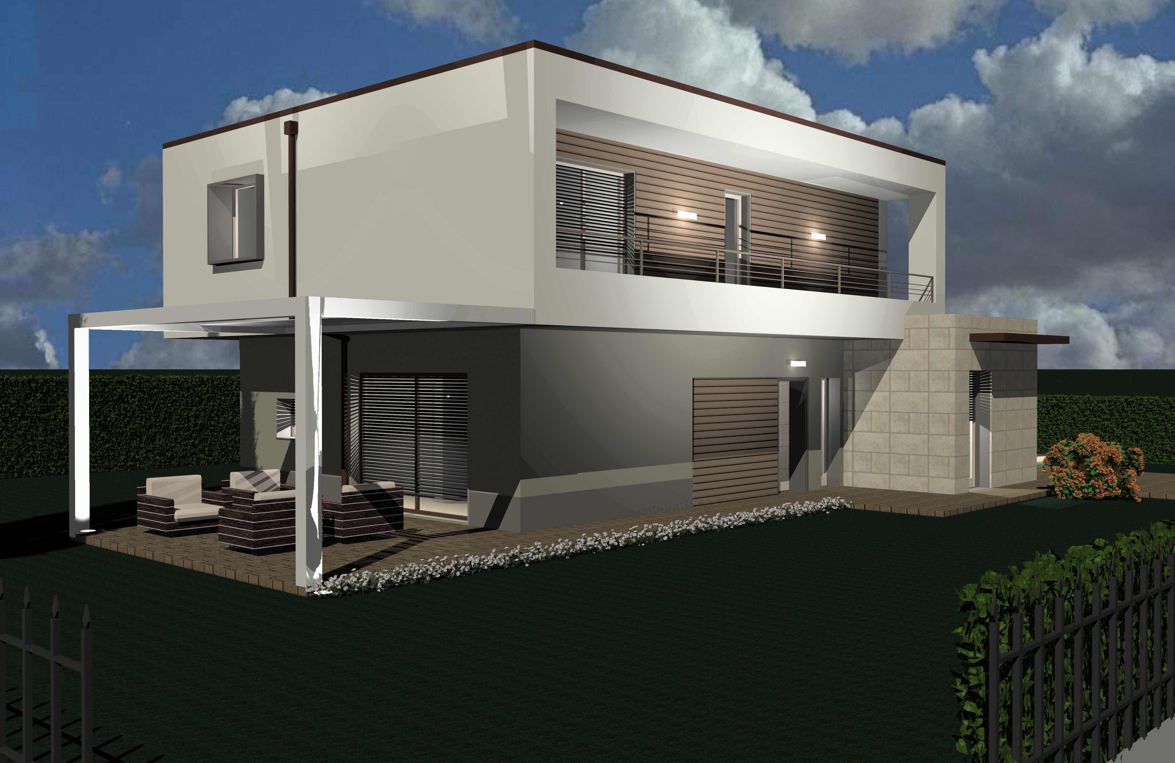 Progetto Nuova Villa Unifamiliare A Caravaggio Bg Archea
